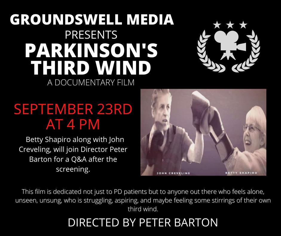 Movie Screening for Parkinson's Third Wind