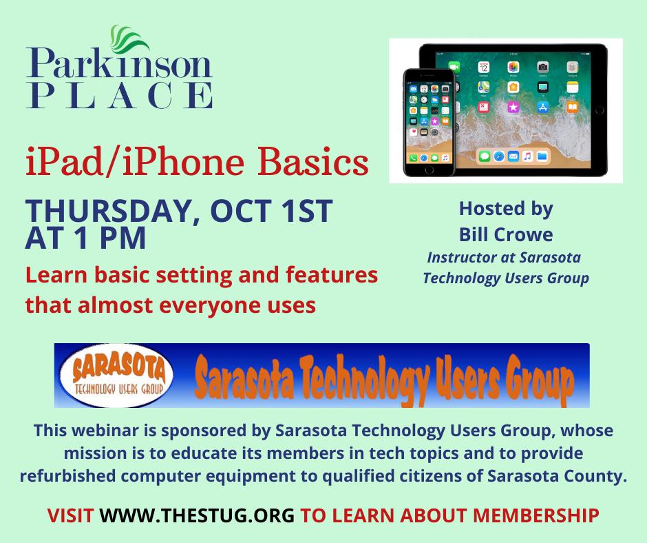 iPad/iPhone Basics Webinar