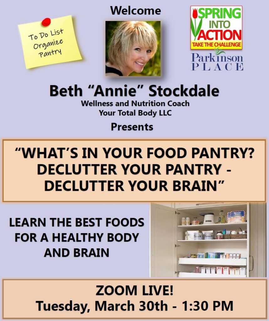 What's in Your Food Pantry? Declutter Your Pantry-Declutter Your Brain w/Beth Stockdale