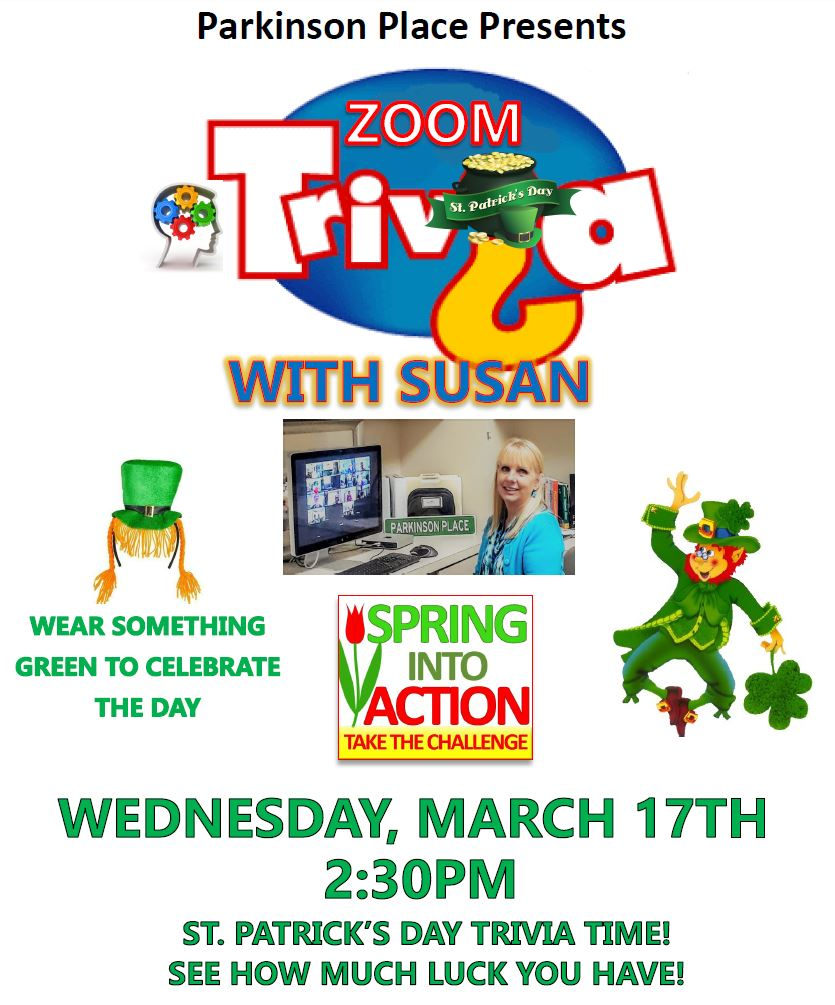 St. Patrick's Day Trivia w/Susan