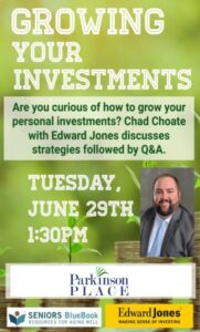 Growing Your Investments-Senior Blue Book Event